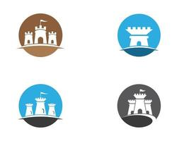 jeu d'icônes de symbole de château
