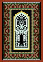 conception de tapis de tuiles marron vecteur