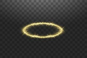 bague ange halo doré vecteur