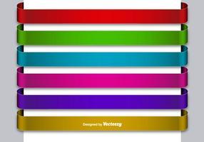 Ensemble de 6 bannières vierges colorées métalliques vecteur