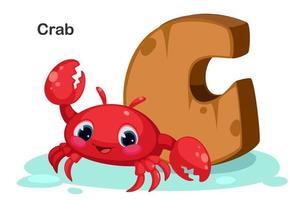 c pour le crabe vecteur