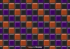 Vector Purple Orange and Black Tiles Abstract Background - Seamless Pattern