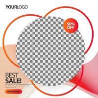 Modèle de bannière de cercles qui se chevauchent `` meilleure vente ''