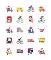 ensemble d'icônes de shopping en ligne