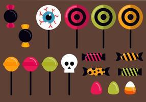 Vecteur de bonbons de Halloween gratuit