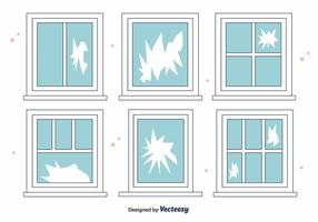 Vecteur de fenêtre cassé gratuit