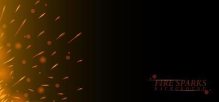 modèle de fond de conception d'étincelles de feu rouge rougeoyant vecteur