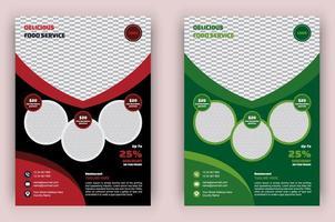 affiche de cuisine moderne créative vecteur