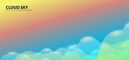 modèle de fond de conception de nuages de ciel