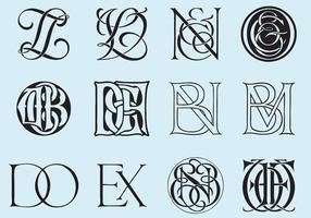 Monogrammes classiques vecteur