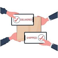 achats en ligne et concept de livraison rapide
