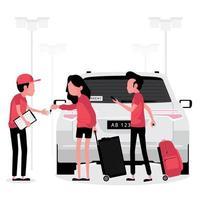 entreprise de location de voitures vecteur