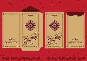 Illustration de paquet rouge d'argent