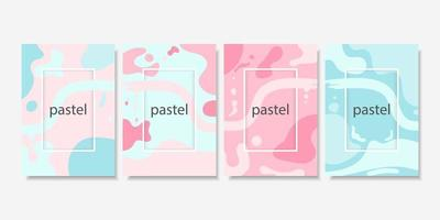 collection de cartes de couleur pastel de forme fluide abstraite