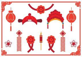 Élément de mariage chinois vecteur