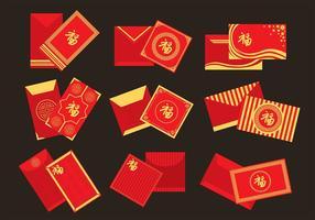 Icônes de paquets rouges