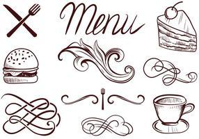 Vecteurs de menus gratuits vecteur