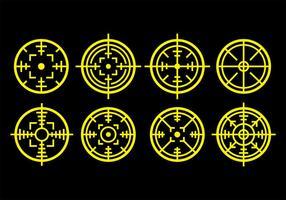 Icônes de balises laser vecteur