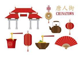 Vecteurs de Chinatown vecteur