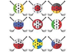 Vecteur libre d'icônes de floorball