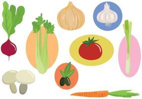 Vecteurs de légumes libres