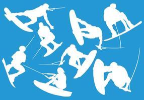 Vecteur d'icônes de wakeboard gratuit