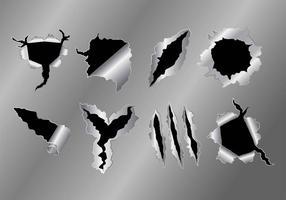 Icônes de déchirure de métal vecteur