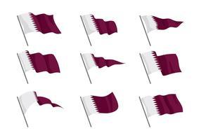 Vecteur de drapeau de Qatar