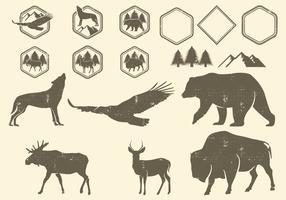 Éléments de conception de la nature sauvage vecteur