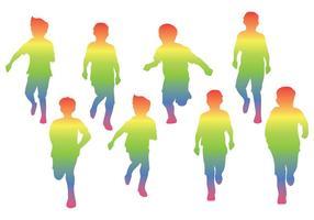Vecteur Silhouette de la Journée de l'Enfant