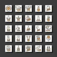 ensemble d & # 39; icônes de bière artisanale