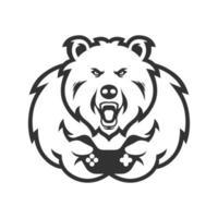 ours avec contrôleur de jeu e-sports vecteur