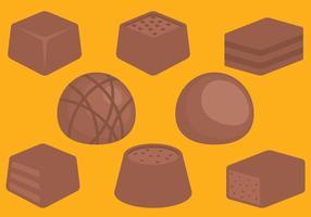 Bonbons au chocolat vecteur