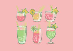 Vecteur de boisson à la citronnelle
