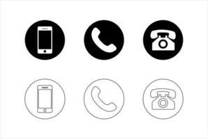 jeu d'icônes de contact vecteur