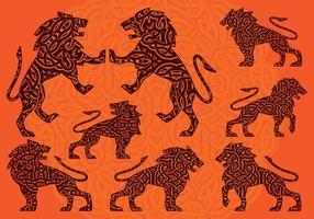 Ornement de lion vecteur