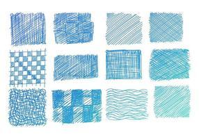 ensemble de gribouillis de ton bleu dessinés à la main