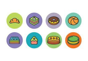 Ensemble d'icônes de gâteau gratuit