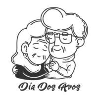dia dos avos couple main dans la main