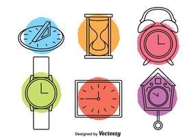 Vector d'icônes d'horloge