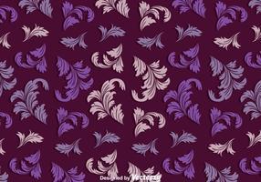 Motif violet vintage acanthus vecteur