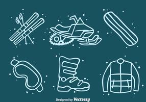 Vecteur d'icônes d'élément d'aventure d'hiver