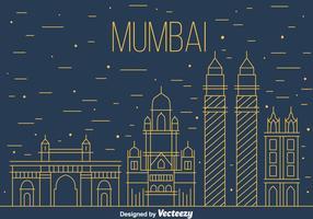 Vecteur Skyline de Mumbai