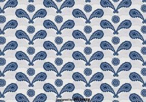 Motif d'ornement bleu en cachemire vecteur
