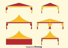 Vecteur de collection de tentes pliantes