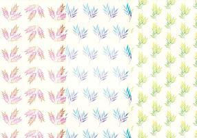 Patterns de branches d'aquarelle vectorielle