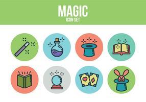 Ensemble d'icônes magique gratuit vecteur