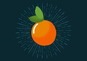 Orange radiante vecteur