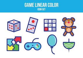 Ensemble d'icônes de jeu gratuit vecteur