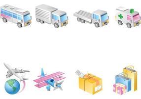 Pack de vecteur de transport